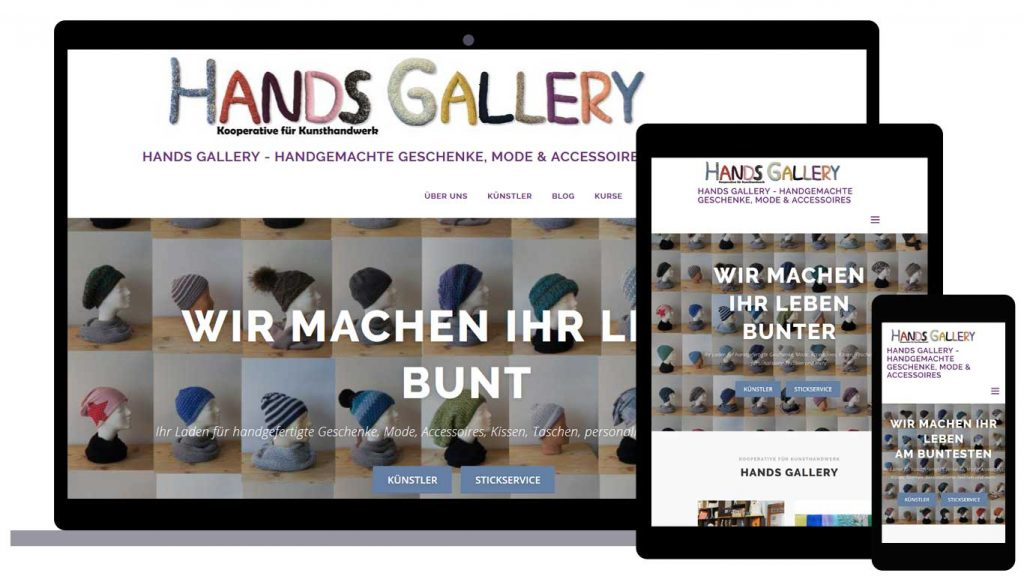 Hands Gallery - responsive website