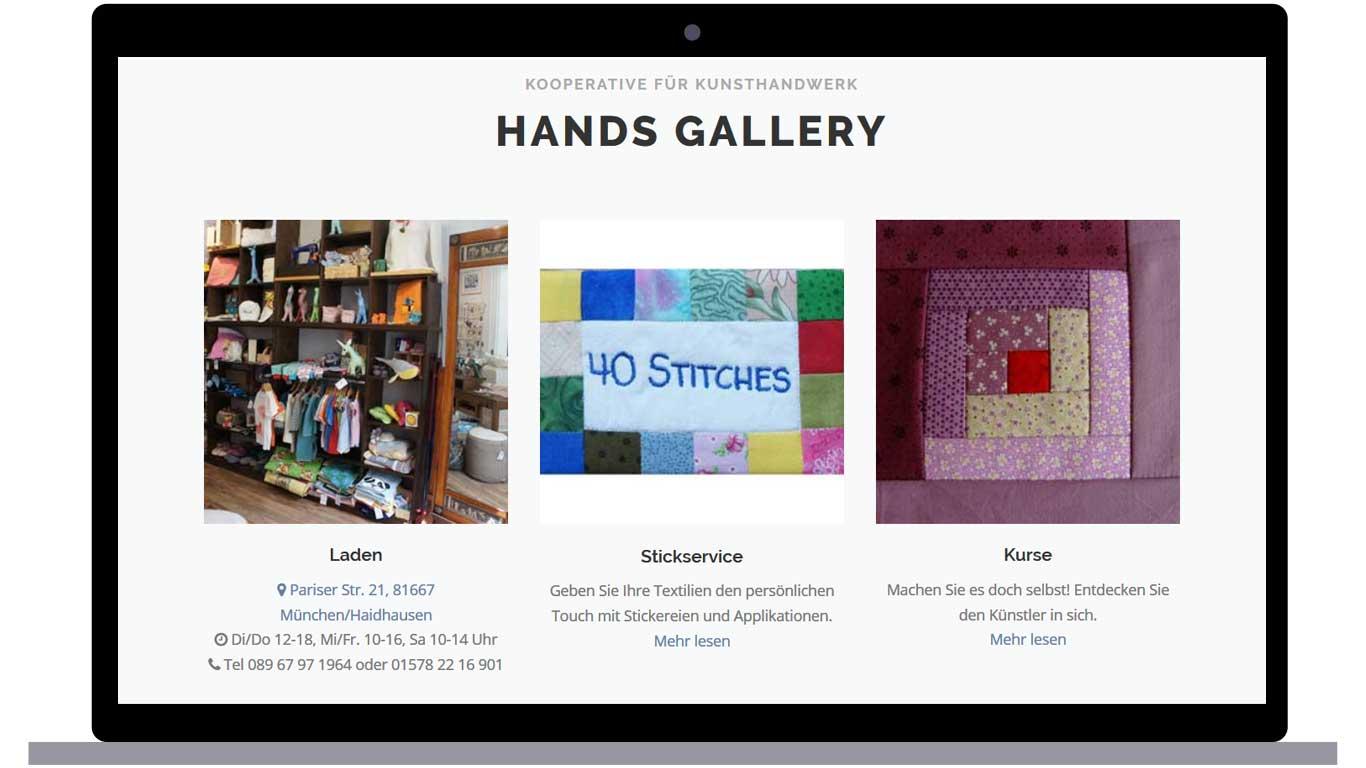hands gallery store info