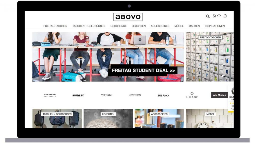 abovo homepage